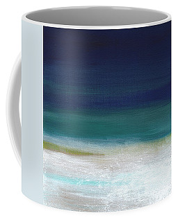 Surf And Sky- Abstract Beach Painting Coffee Mug