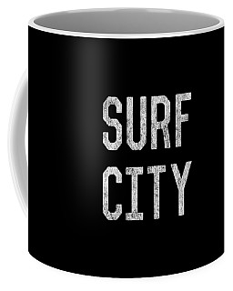 Coffee Mug featuring the digital art Surf City by Flippin Sweet Gear