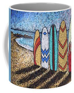 Surfboard Line Up Coffee Mug