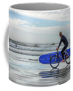 Surfer On Bike Coffee Mug