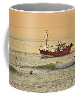 Surfing At Dusk Ij Aberystwyth Coffee Mug