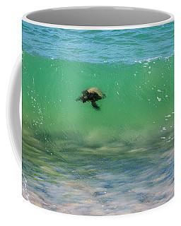 Surfing Turtle Coffee Mug