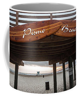 Coffee Mug featuring the photograph Surf's Up by Mike Long