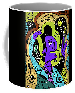 Coffee Mug featuring the digital art Surreal Painter by Sotuland Art