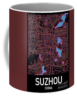 Suzhou City Map Coffee Mug