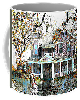 Coffee Mug featuring the digital art Swamp House by Pennie McCracken