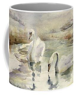 Swans In Winter Coffee Mug