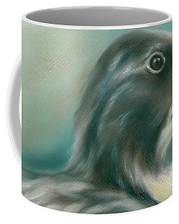 Coffee Mug featuring the pastel Swedish Blue Duck by MM Anderson