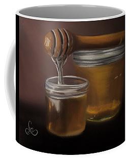 Coffee Mug featuring the painting Sweet Honey by Fe Jones