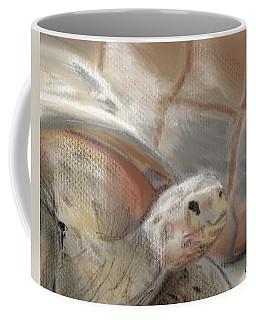 Coffee Mug featuring the digital art Sweet Tortoise by Fe Jones