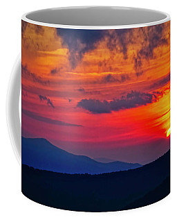 Coffee Mug featuring the photograph Blue Ridge Mountain Sunset by Meta Gatschenberger
