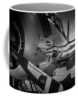 T-28b Trojan In Bw Coffee Mug