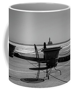 Table For One Bw Coffee Mug