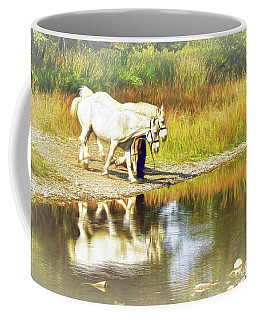 Coffee Mug featuring the photograph Leading The Horses To Water by Ola Allen