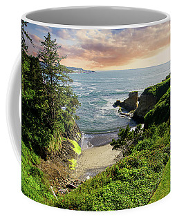 Tall Conifer Above Protected Small Cov Coffee Mug