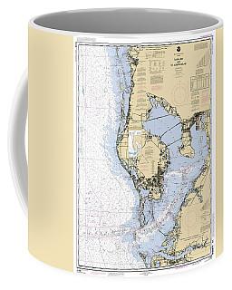 Tampa Bay And St. Joseph Sound Noaa Chart 11412 Coffee Mug