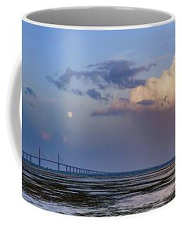 Tampa Bay Moon Rise At Sunset Coffee Mug