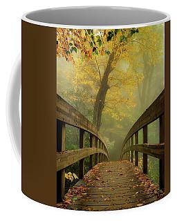 Tanawha Trail Blue Ridge Parkway - Foggy Autumn Coffee Mug