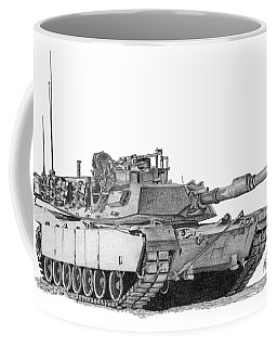 Coffee Mug featuring the painting Tank by Betsy Hackett