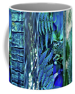Teal Abstract Coffee Mug