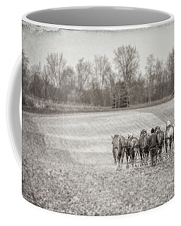 Team Of Six Horses Tilling The Fields Coffee Mug