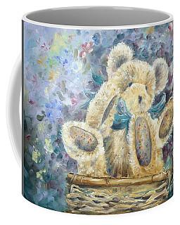 Teddy Bear In Basket Coffee Mug
