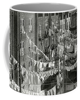Tenement Laundry Day - New York City C. 1930 Coffee Mug