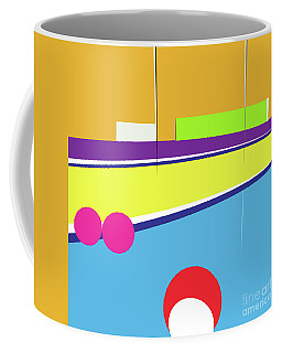 Tennis In Abstraction Coffee Mug
