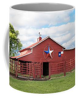 Coffee Mug featuring the photograph Texas Red Barn by Robert Bellomy