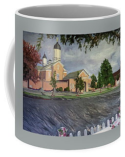 Thank Thee For The Church And The Temple  Vernal Utah Temple Coffee Mug