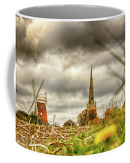 Coffee Mug featuring the photograph Thaxted Windmill And Church by Chris Cousins