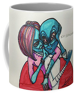 The Alien Is Serious Coffee Mug