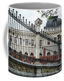 The Back Of The Ministry Of Agriculture Building In Madrid Coffee Mug