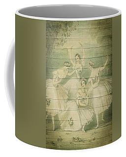 The Ballet Dancers Shabby Chic Vintage Style Portrait Coffee Mug