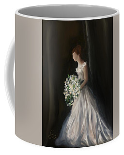 Coffee Mug featuring the painting The Big Day by Fe Jones