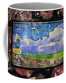 Coffee Mug featuring the digital art The Blackberry Concept by ISAW Company