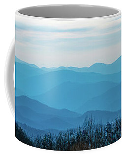 Coffee Mug featuring the photograph The Blue Ridge Mountains by Mark Duehmig