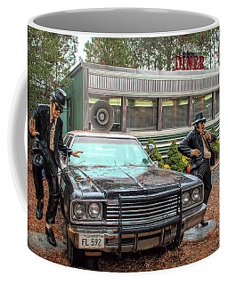 The Blues Brothers At A Diner Coffee Mug