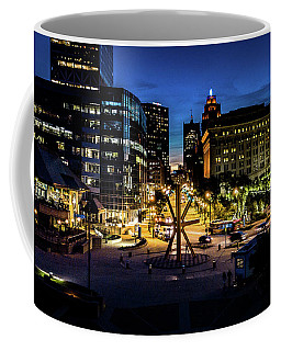 Coffee Mug featuring the photograph The Calling At Blue Hour by Randy Scherkenbach