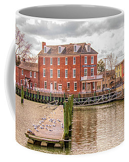 Coffee Mug featuring the photograph The Central Hotel - Delaware City by Kristia Adams