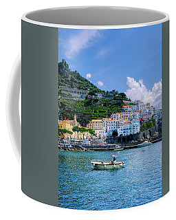 Coffee Mug featuring the photograph The Colorful Amalfi Coast  by Robert Bellomy