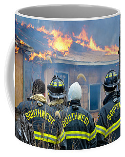 Coffee Mug featuring the photograph The Crew by Carl Young