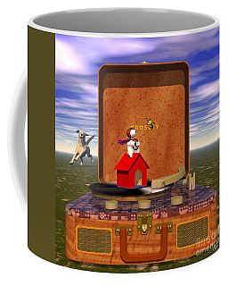 The Crosley Traveler, Featuring Snoopy And Schroeder Coffee Mug