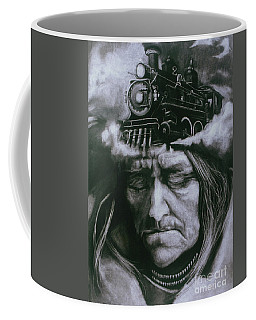 Coffee Mug featuring the drawing The Demise by Donna Hall