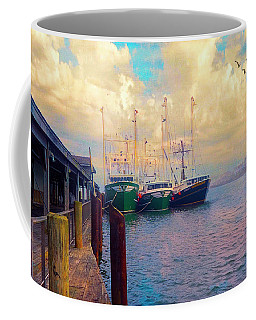 The Docks At Cape May Coffee Mug