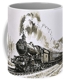 The Famous 4-6-0 Castle Class Of Steam Locomotives Used By Great Western Coffee Mug