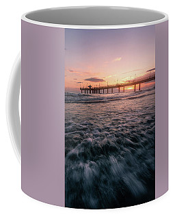 The Fiery Pier - A Pier At Sunset In Versilia, Tuscany, Italy Coffee Mug