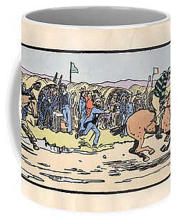 Coffee Mug featuring the painting the Finishing post. Omey, by Val Byrne
