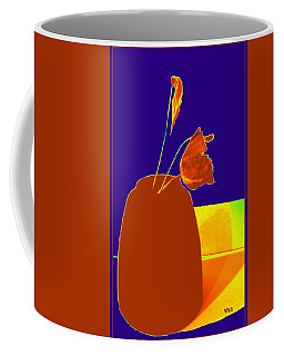 Coffee Mug featuring the photograph The First Rose - Pop Art by VIVA Anderson
