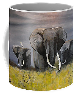 Coffee Mug featuring the painting The Frog by Jim Lesher